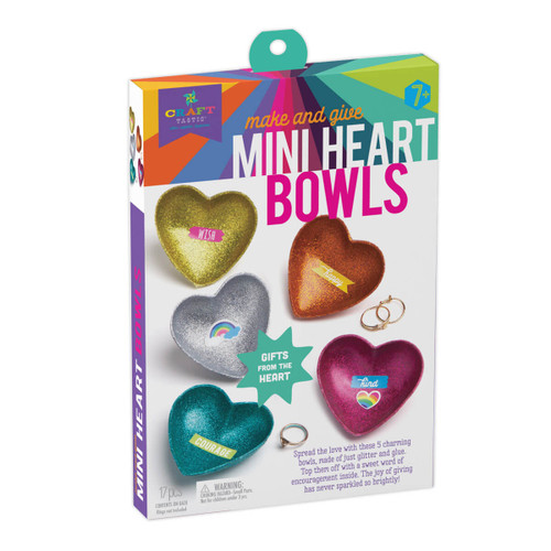 Sparkle Heart Bowls Craft Kit
