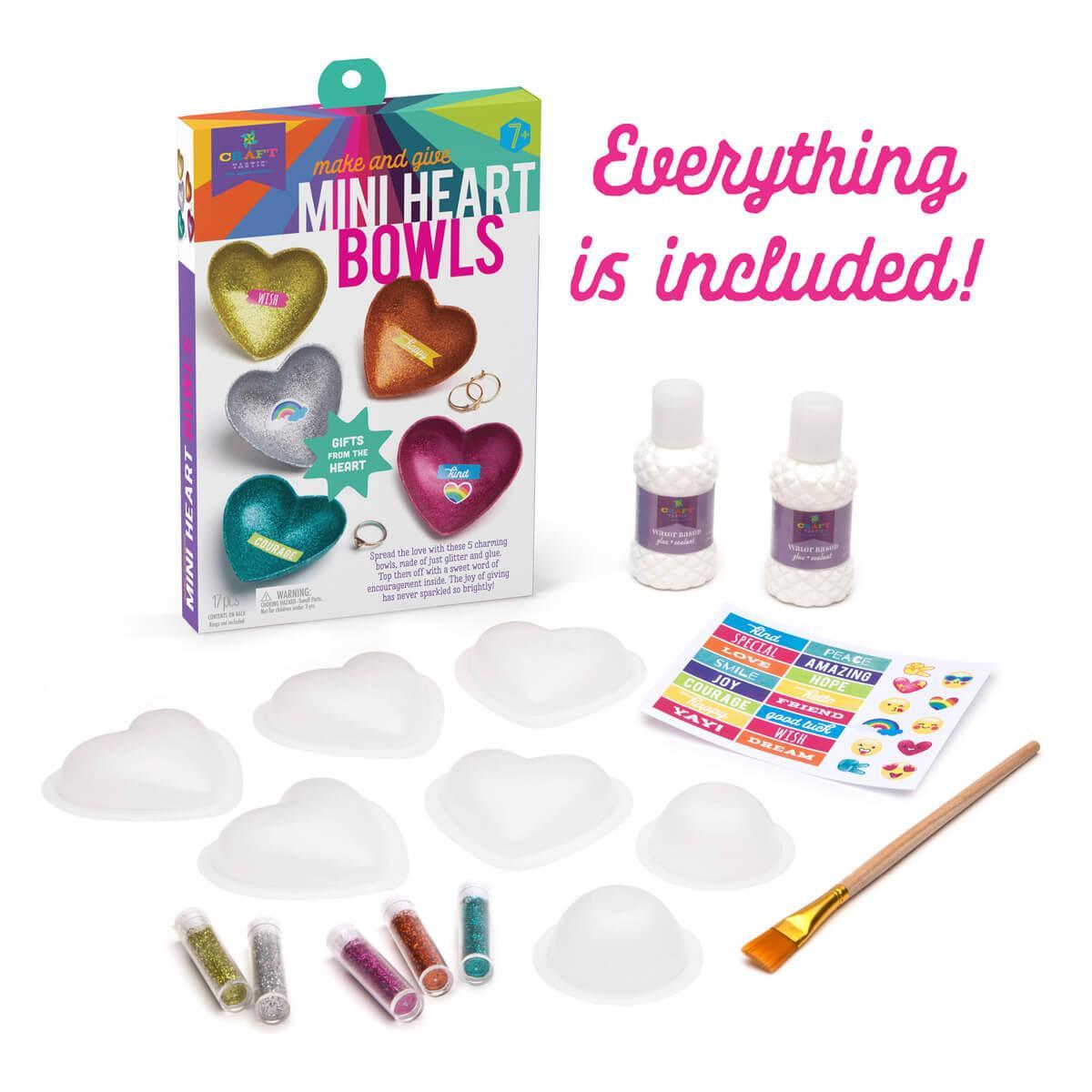 Sparkle Heart Bowls Craft Kit