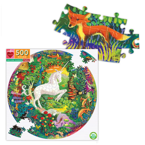 Unicorn 500 Piece Round Puzzle