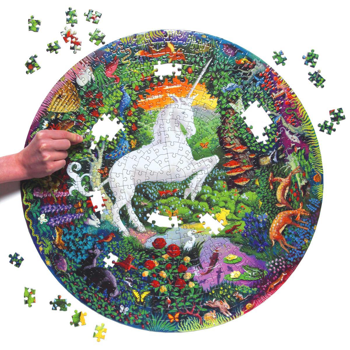 Unicorn 500 Piece Round Puzzle