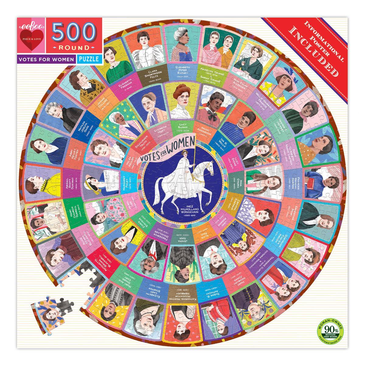Votes for Women 500 Pc Round Puzzle