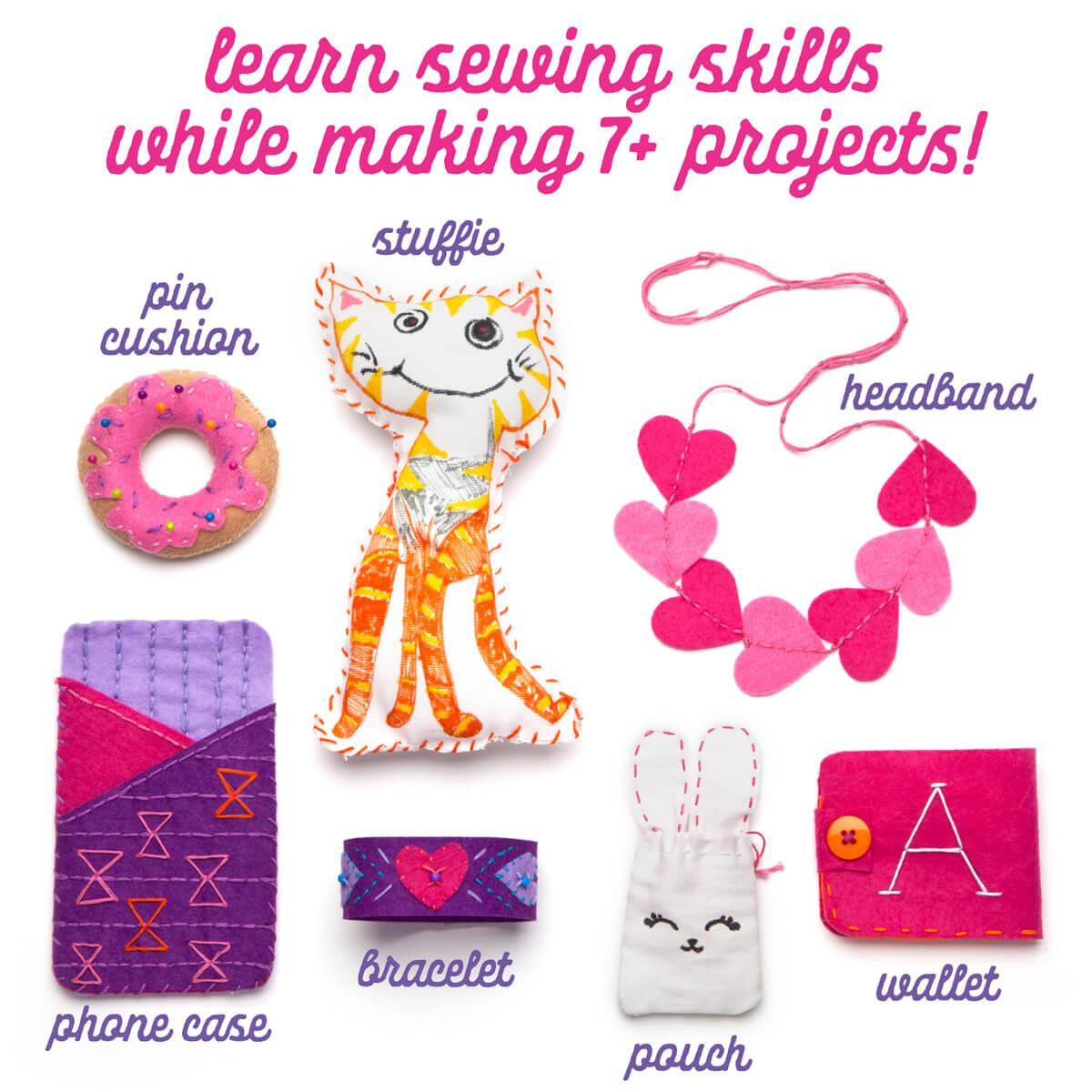 Learn to Sew Kit featured projects