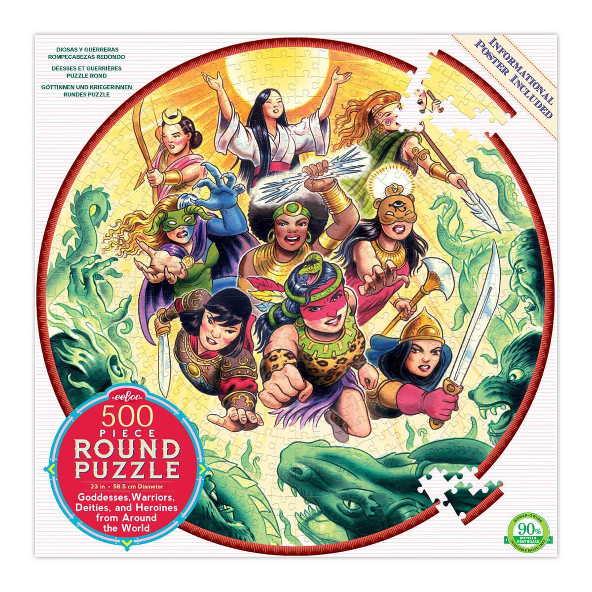 500 piece round jigsaw puzzle