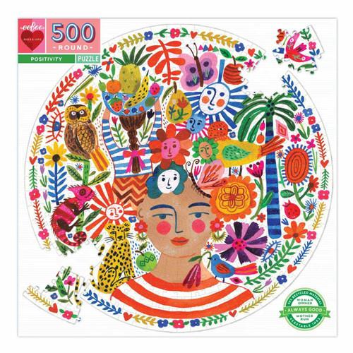 Positivity 500 Piece Round Jigsaw P