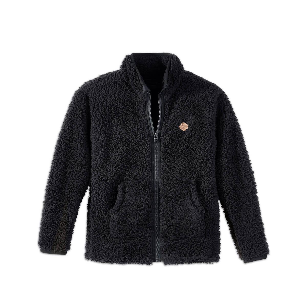 Girls Soft Fleece sherpa Jacket Full Zip Hoodie