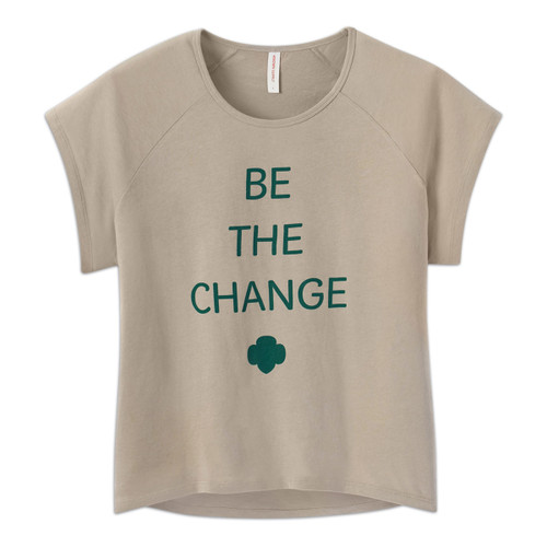 Be the Change womens tee
